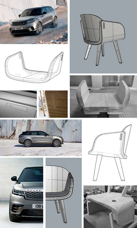 Auto-Inspired Lounge Chairs - The Design of the 'Velar' Chair Takes Inspiration from Range Rover