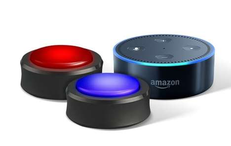 Voice Assistant Buttons - Amazon's Echo Buttons Allow Alexa to Participate in Gaming Experiences