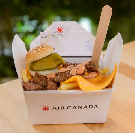 Airline Poutine Pop-Ups - The Poutinerie by Air Canada Entices Londoners to Travel to North America