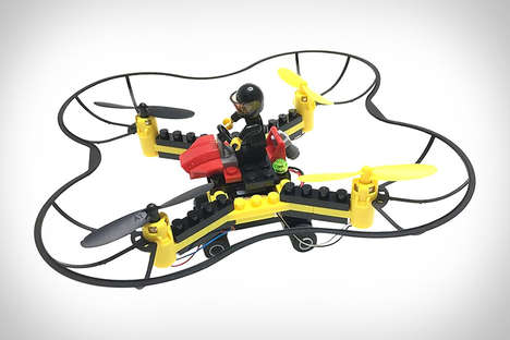 Building Block Drone Kits - The Force Flyers DIY Fly n Drive Building Block Drone is Customizable
