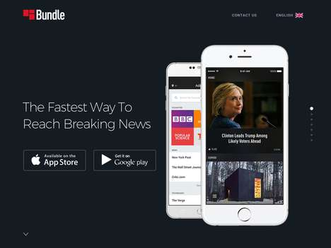 Lightning-Fast News Apps - The 'Bundle' News App Sources Covers from Over 8,000 Sources