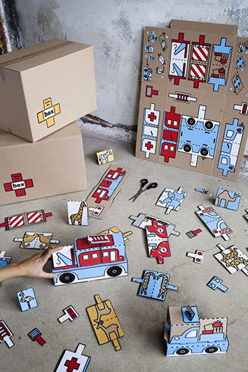 This Project Turns Cardboard Boxes for Refugees Into Waste-Reducing Toys