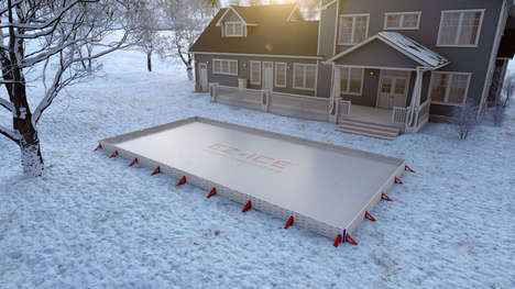 DIY Backyard Ice Rinks - The 'EZ Ice' Ice Rink is Ready to Use in 60 Minutes