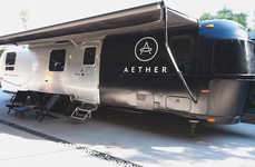 Contemporary Traveling Pop-Ups - The Aetherstream Combines Mobility with a Minimal Aesthetic