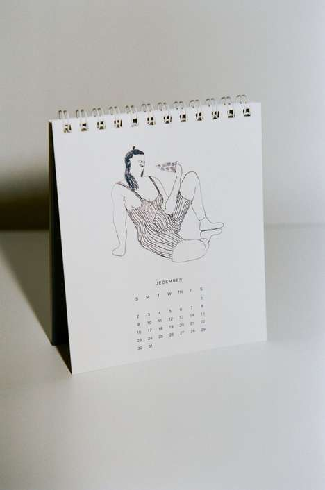 Body Positive Desk Calendars - The KARA 2018 Calendar Challenges Traditional 'Pin-Up' Images