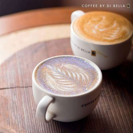 Edible Glitter Cappuccinos - India's Coffee By Di Bella Serves a 'Gold and Diamond Cappuccino'