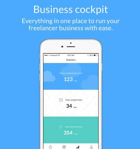 Data-Tracking Freelancer Apps - The 'Freework' App Tracks Workflow to Satisfy Clients
