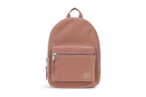 Pink Velvet Backpack Collections