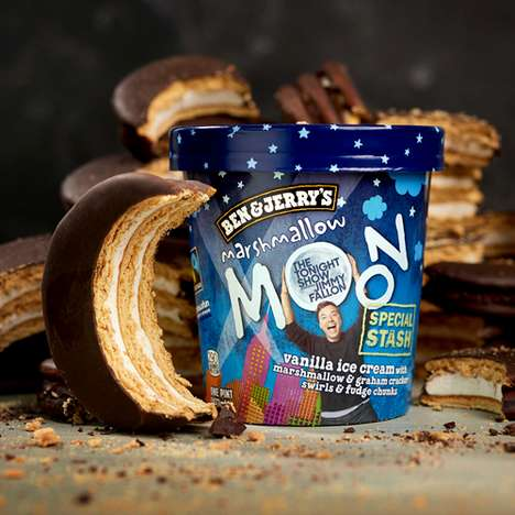 Celebrity Approved Ice Creams - The Ben & Jerry's Marshmallow Moon is Part of the Special Stash Line