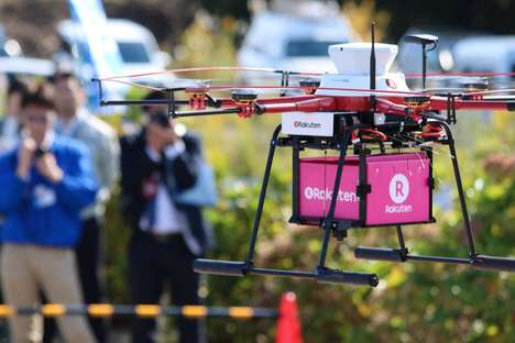 Convenience Store Drone Deliveries - This Supply Delivery Service Flew a Drone to Fukushima