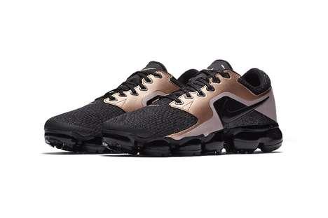 Sleek Bronze-Accented Sneakers