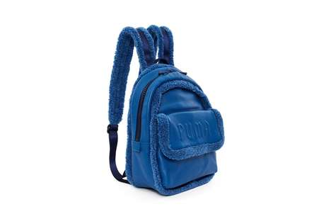 Bold Sherpa-Trimmed Bags - Fenty Puma's New 'Mini Sherpa Backpack' Features a 'Cobalt Blue' Colorway