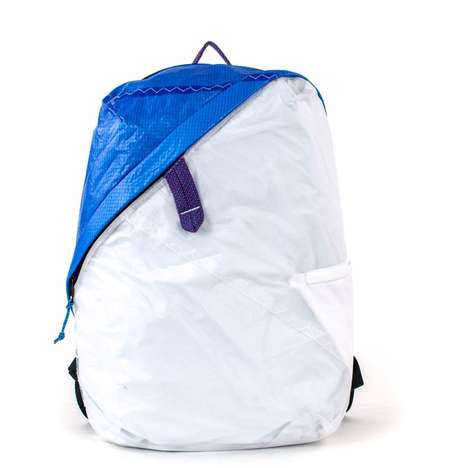 Compartmentalized Day Bags - The Deep Blue Bag Was Made from Recycled Boat Sails