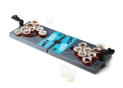 Mini Beer Pong Sets - The Mini Beer Pong Travel Set Can Be Played on the Beach