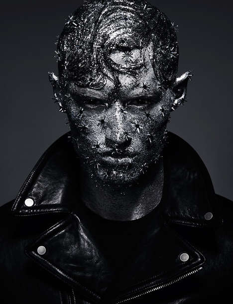 Mystical Menswear Editorials - Michael Furlonger's 'COLD' Editorial Highlights Conceptual Makeup