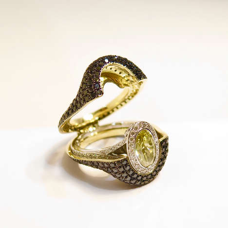 Two-in-One Engagement Rings - The House of Aziz & Walid Mouzannar Makes Rings with Removable Shells