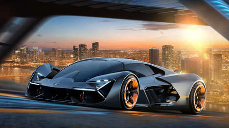 Aggressive Electric Concept Cars - The Lamborghini Terzo Millennio was Built in Conjunction with MIT