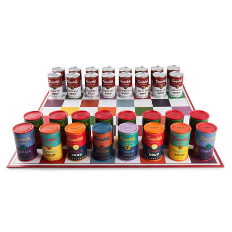 Pop Art Chess Toys - The Andy Warhol x Kidrobot Campbell's Soup Chess Set Celebrates the Artist