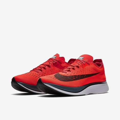 Efficiency-Improving Marathon Shoes - The Nike Vaporfly 4% Runners Improve Marathon Race Times
