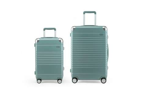 Sturdy Mint Green Luggage - Sight Unseen and Arlo Skye Collaborated on Light Green Suitcases