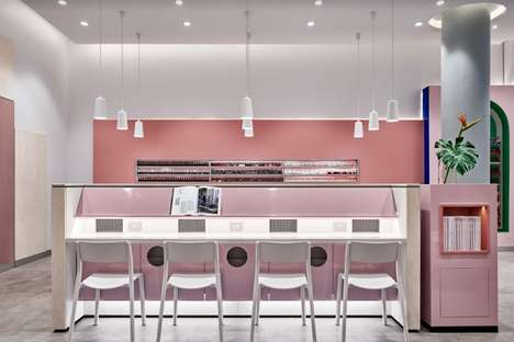 Millennial Pink Nail Salons - Jason Byrne Design's Professonail Westfield Hornsby Project is Serene