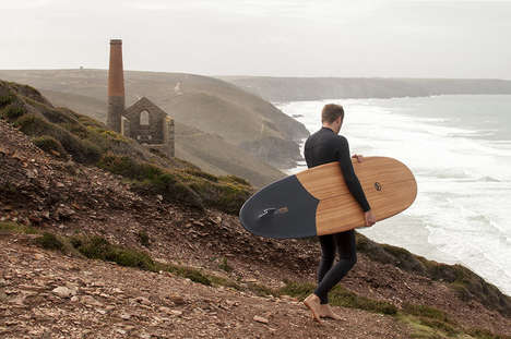 Sustainable Wood Surfboards - This Surfboard by Martin Spurway for Otter Surfboards is Modern