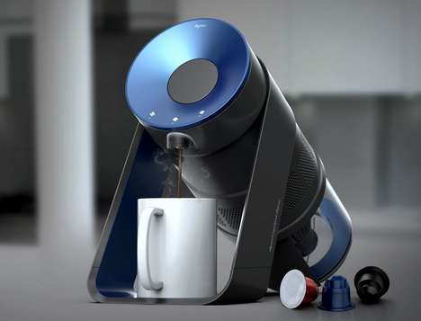 Tech Brand Coffee Makers - This Conceptual Dyson Coffee Maker Features the Brand's Signature Motor