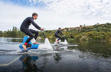 Hydrofoil Bike Concepts - The Hydrofoiler XE-1 From Manta5 Cuts Across Salt and Fresh Water