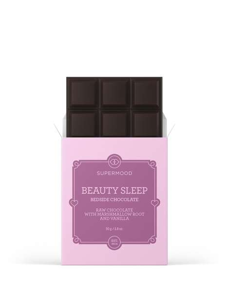 "Restful Beauty Chocolates - Supermood's 'Beauty Sleep' Bar is Branded as a ""Bedside Chocolate"""