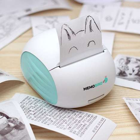 Physical Keepsake Message Printers - The 'MEMOBIRD' Prints Messages from Anywhere in the World