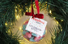 Candy-Filled Baubles - This Christmas Bauble is Filled with Popular Candies