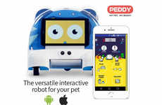 Interactive Pet Companion Robots - The 'PEDDY' Robot Entertains and Feeds Pets When You're Away