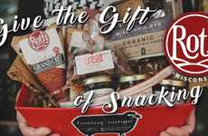 Artisan Cheese Holiday Packs - The Roth Cheese Gifts Offer Edibles to Recipients This Holiday Season