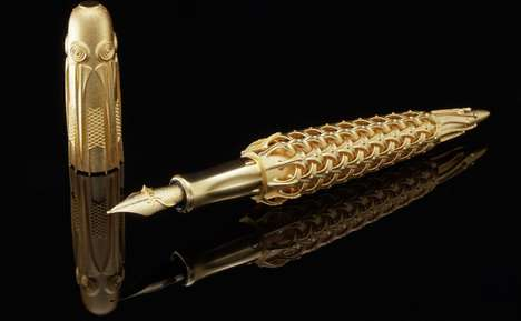 Solid Gold Printed Pens - Rein van der Mast Created the First Solid Gold 3D-Printed Fountain Pen