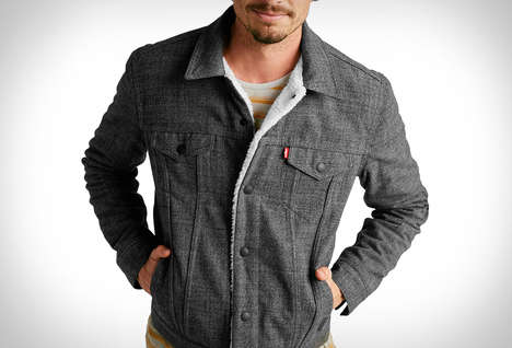 Insulated Hipster Denim Jackets - The Outerknown x Levis Sherpa Trucker Blends Style with Warmth
