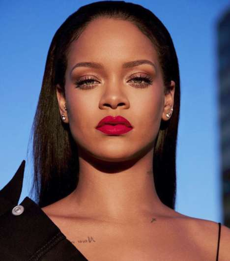 Saturated Popstar Lipsticks - Rihanna's New Fenty Beauty 'Stunna Lip Paint' Comes in a Vivid Red