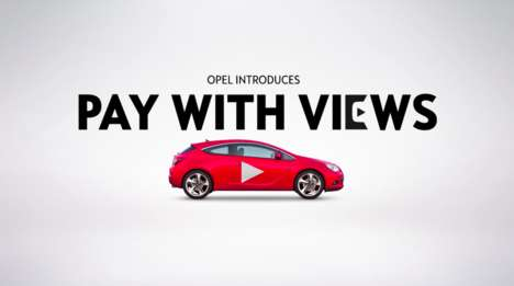 Social Media Car Payments - Opel Made It Possible for Drivers to Buy Its Cars with YouTube Views