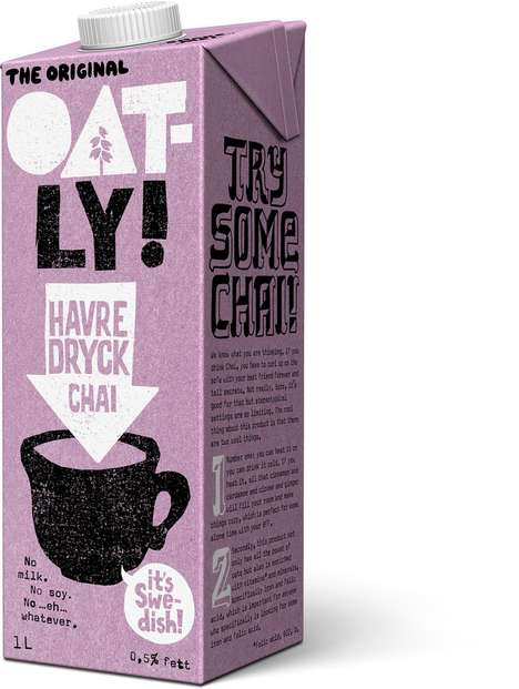 Beautifying Oat Beverages - Oatly's Oat Chai is a Milk Alternative with Nourishing Ingredients