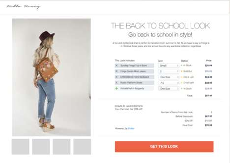 Look-Focused eCommerce Plugins - The 'Ember' Shopify Plugin Lets Consumers Shop Looks Over Products
