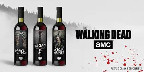 Post-Apocalyptic Wine Collections - The New Line of The Walking Dead Wines are Character-Themed