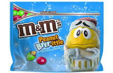 Seasonal Peanut Brittle Candies - The Peanut Brrr-ittle M&M's are Festive and Flavorful
