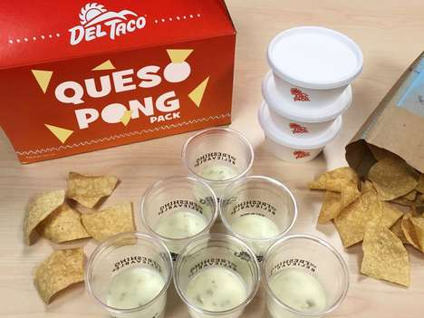 Cheesy Pong Games - Del Taco's 'Queso Pong' Kits Help Fans Play a Fun Game with Food