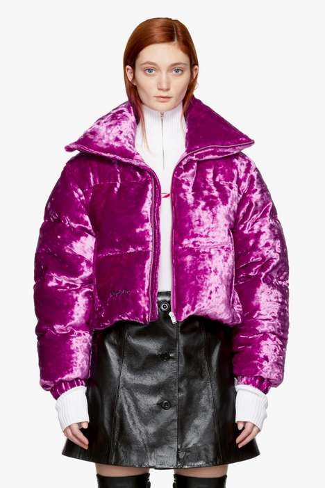 Fuchsia Velour Jackets - This New MISBHV Jacket is Filled with 100% Goose Down