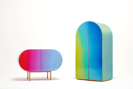 Futuristic Color-Changing Furniture - Korea's Orijeen Brand Launched Its 'Color Flow' Collection