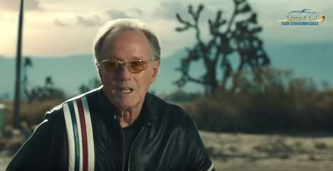 Biker-Lambasting Car Ads - Mercedes-Benz's 'Built to Be Wild' Ad Features Peter Fonda