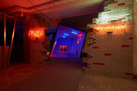 Interactive Nightclub Installations - Virgil Abloh's Interactive Club Installation is in London