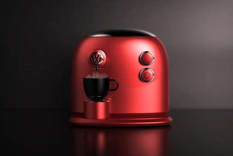 Car Brand Coffee Makers - The 'Barista Beetle' Coffee Machine Has a Streamlined Design