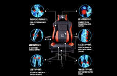 Enhanced Cooling Gaming Chairs - The Thermaltake X Comfort Air Gaming Chair Provides Optimal Support