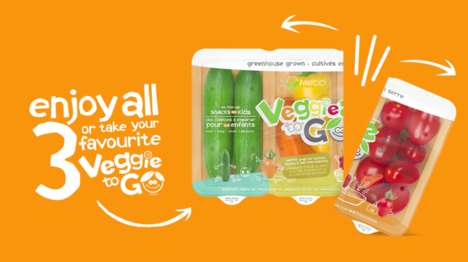 Detachable Vegetable Kits - Mucci Farms' 'Veggies to Go' Packs Can Easily Be Separated for Snacking