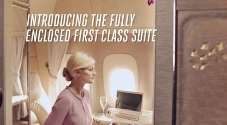Luxury Vehicle-Inspired Airplane Suites - The New Emirates First Class Suite is Ultra Luxurious